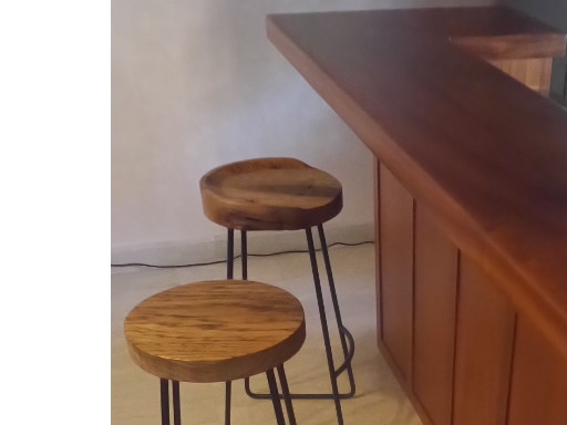 Mahogany & granite bar & barstools