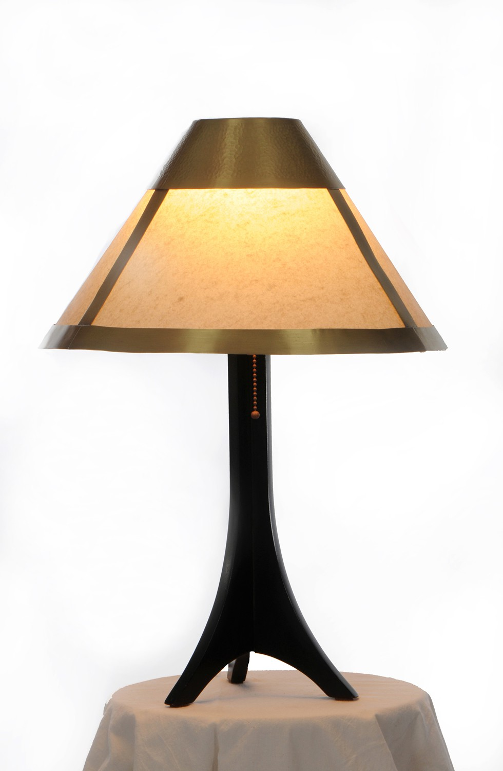 Medina table lamp - carved light brass