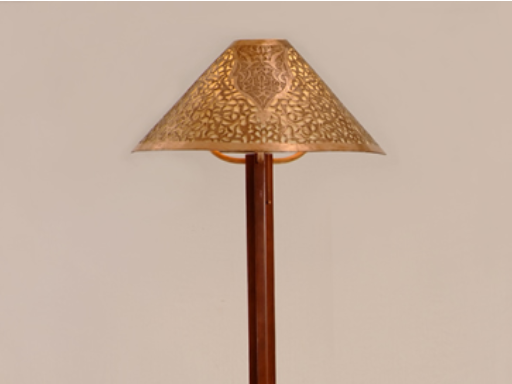 Medina floor lamp - fez handcarved copper