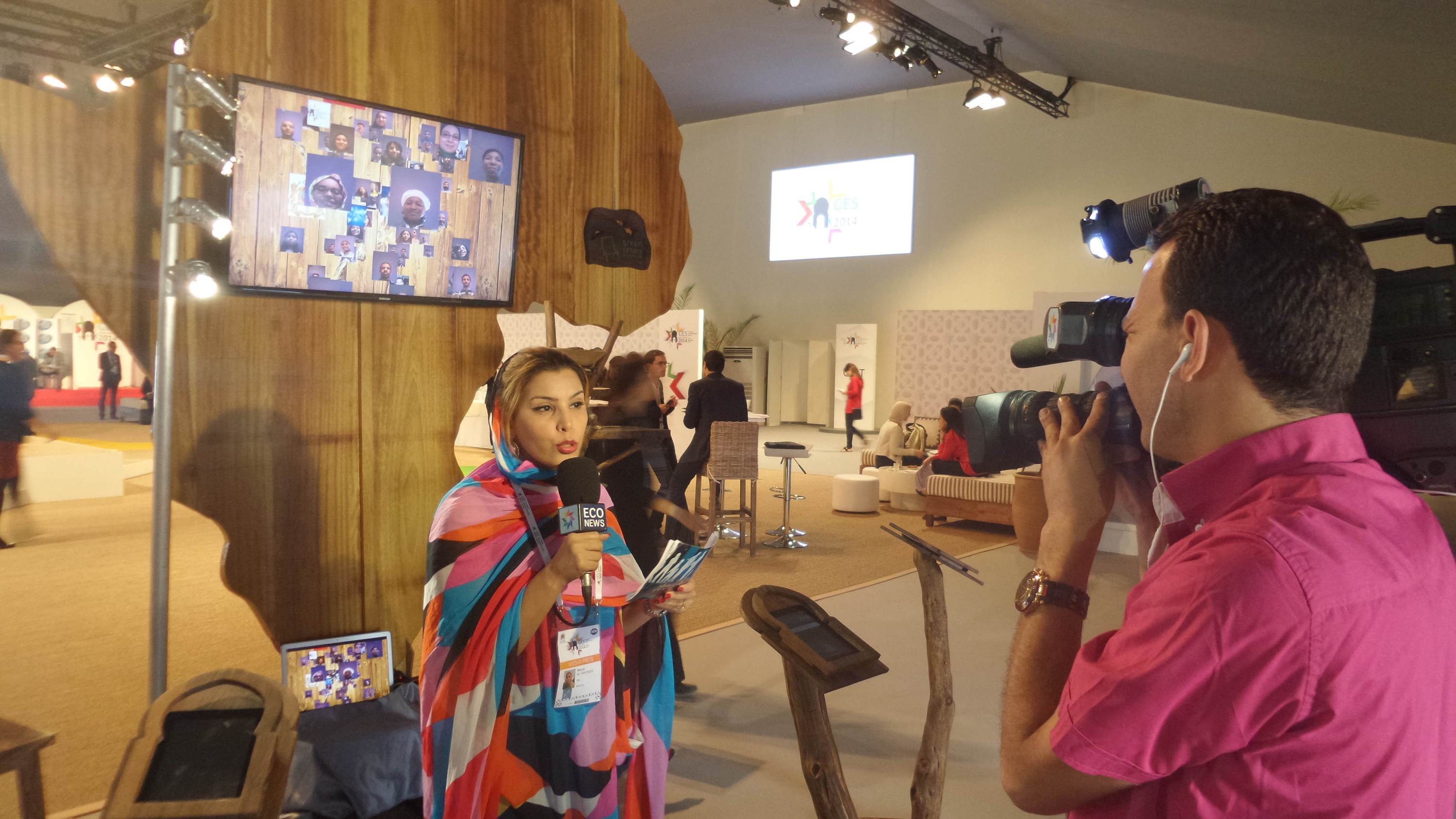 Africa sculpture - GES Marrakech - 2M interview