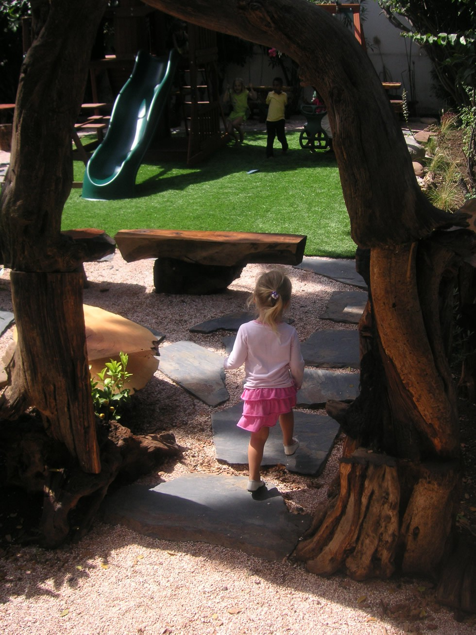 outdoor play area entrance