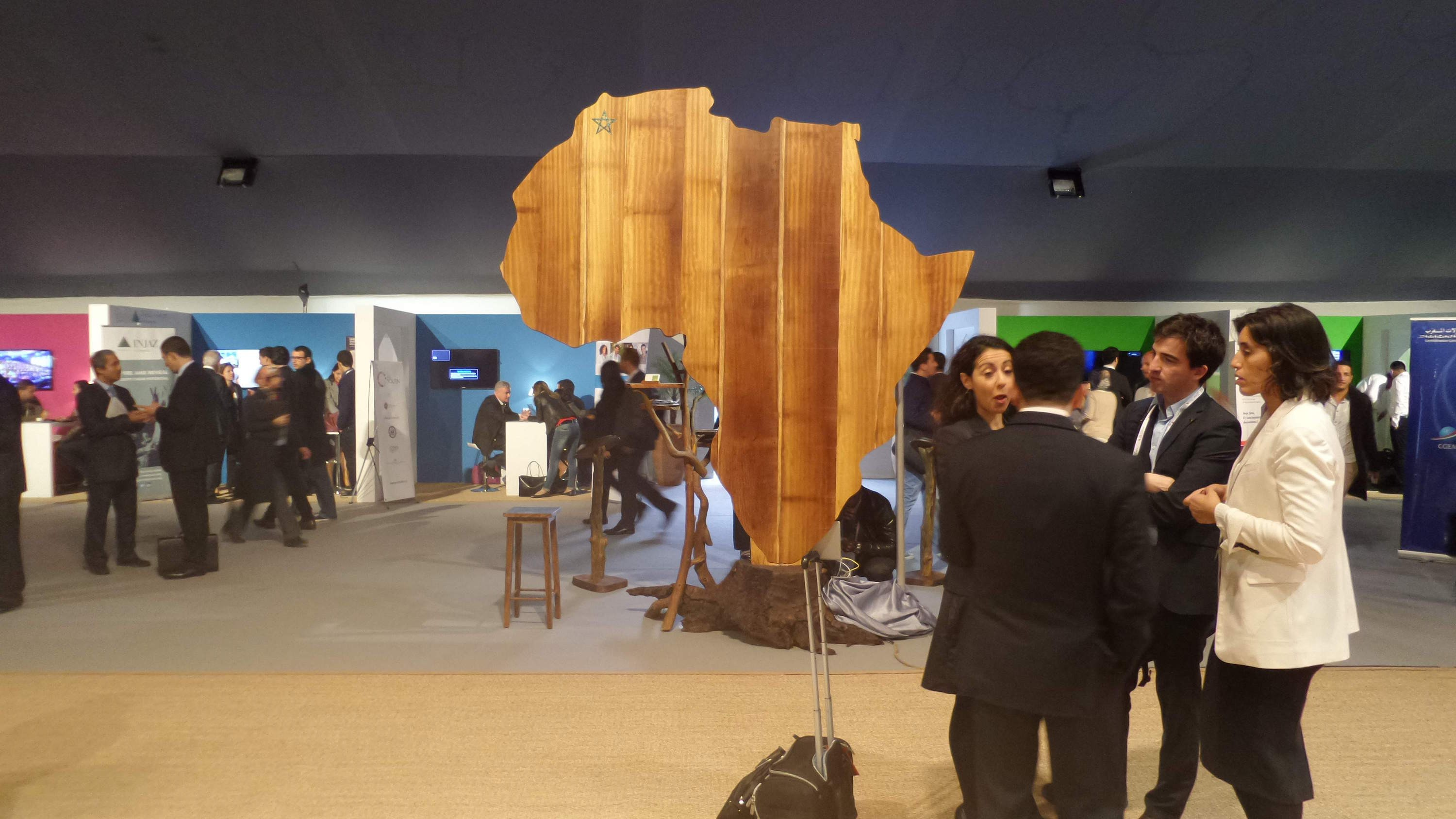 Africa sculpture - Global Entrepreneurship Summit - Marrakech
