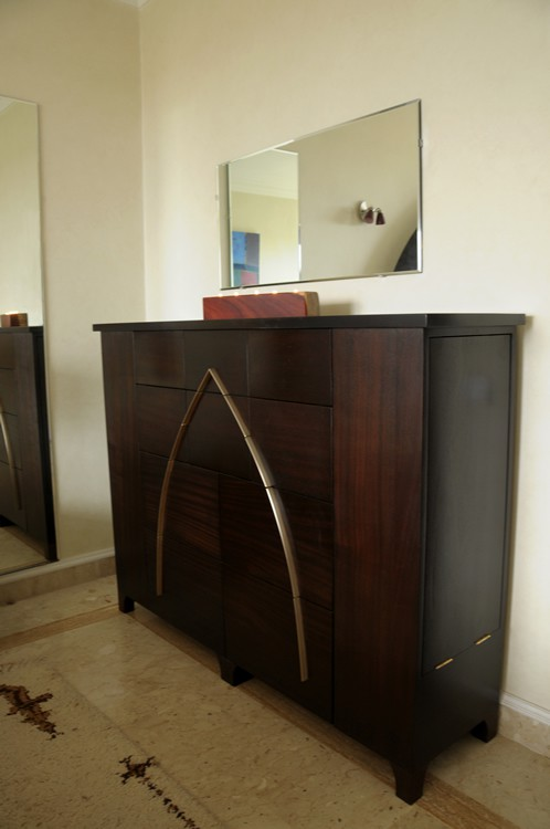 Arch dresser - wood & brass