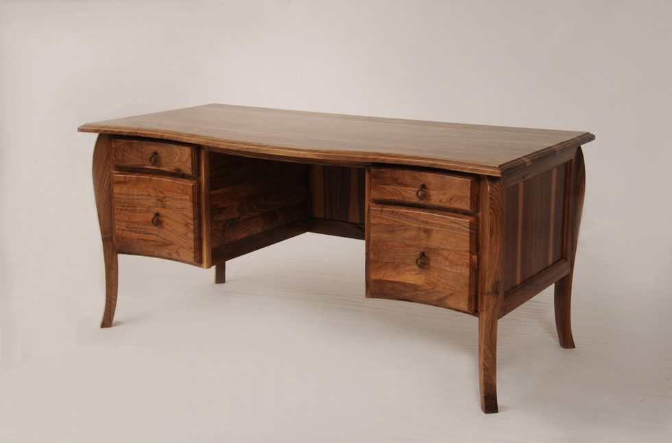 traditional walnut desk
