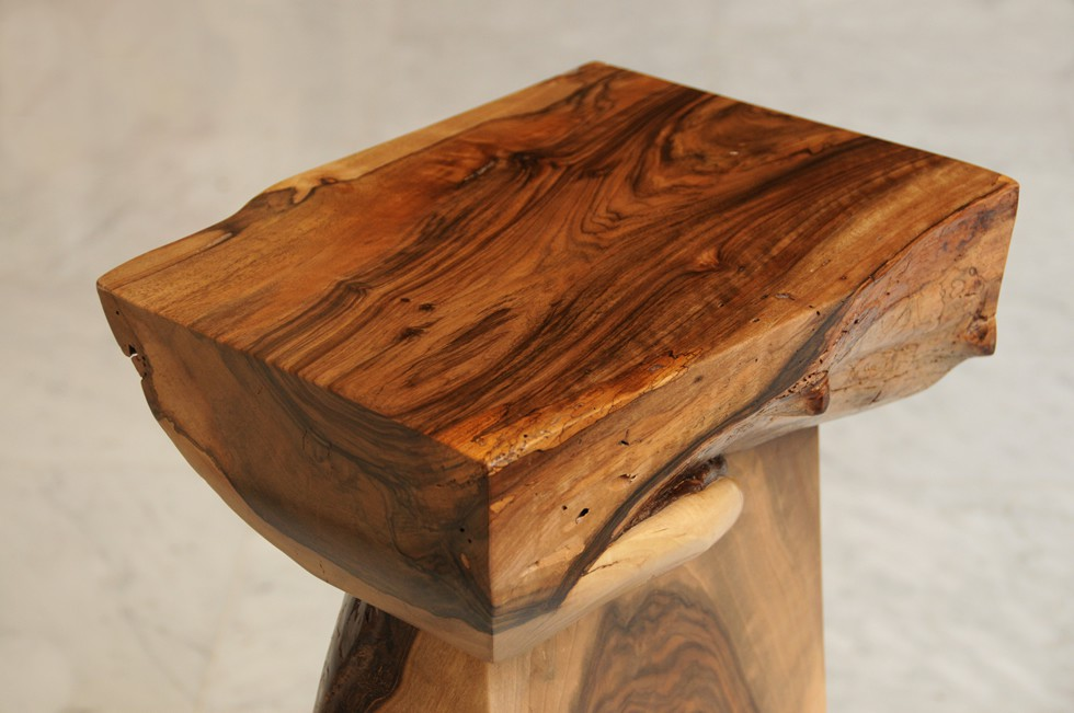 Atlas walnut end table