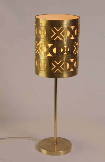 Berber table lamp - brass