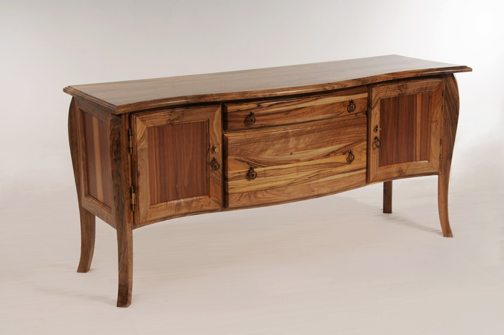 traditional walnut credenza