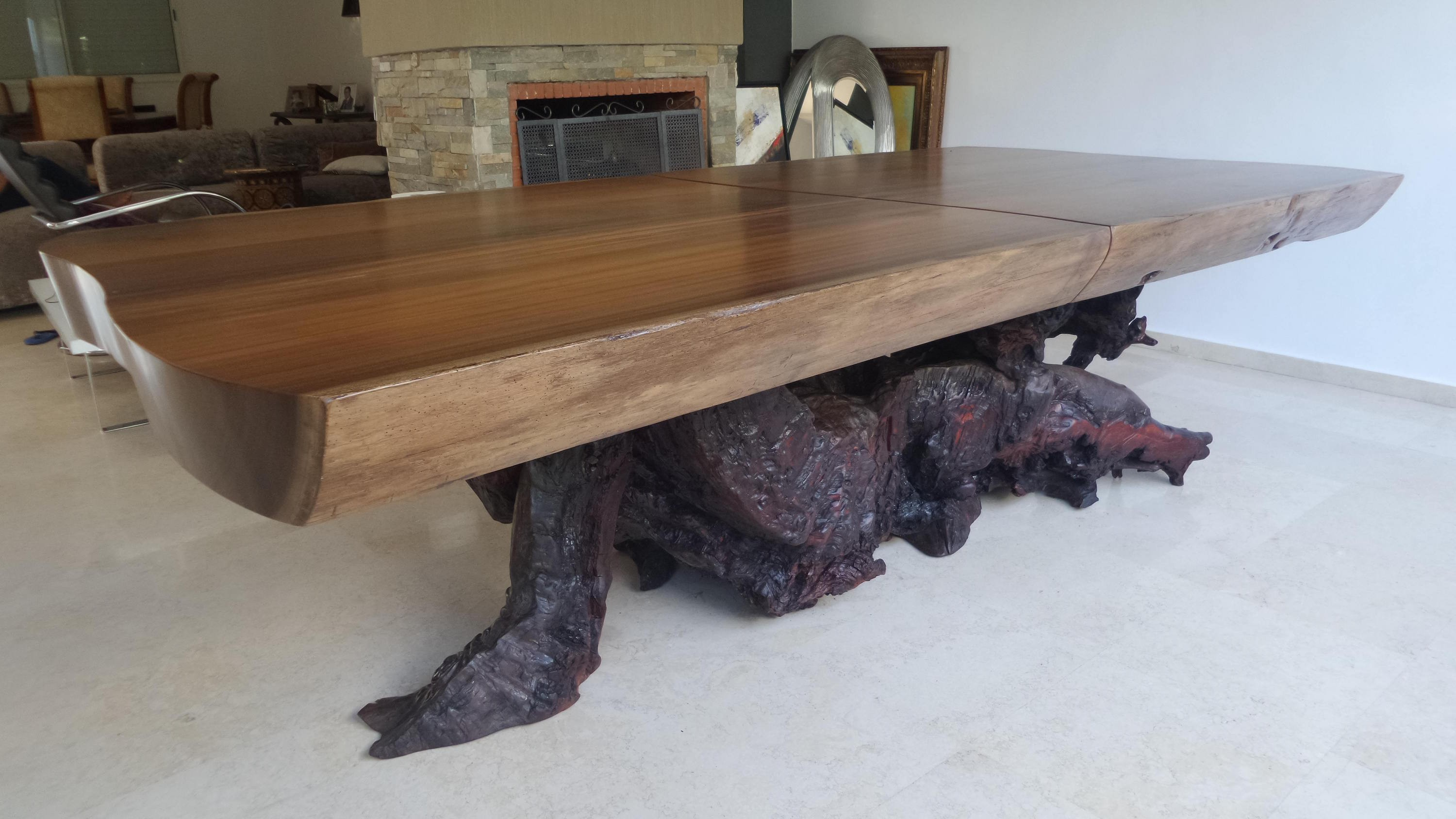 dibetou & eucalyptus dining table - Saudi Arabia