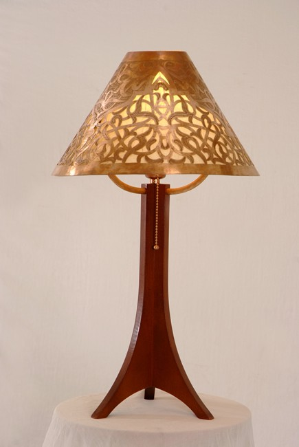 Medina table lamp - fez  handcarved copper