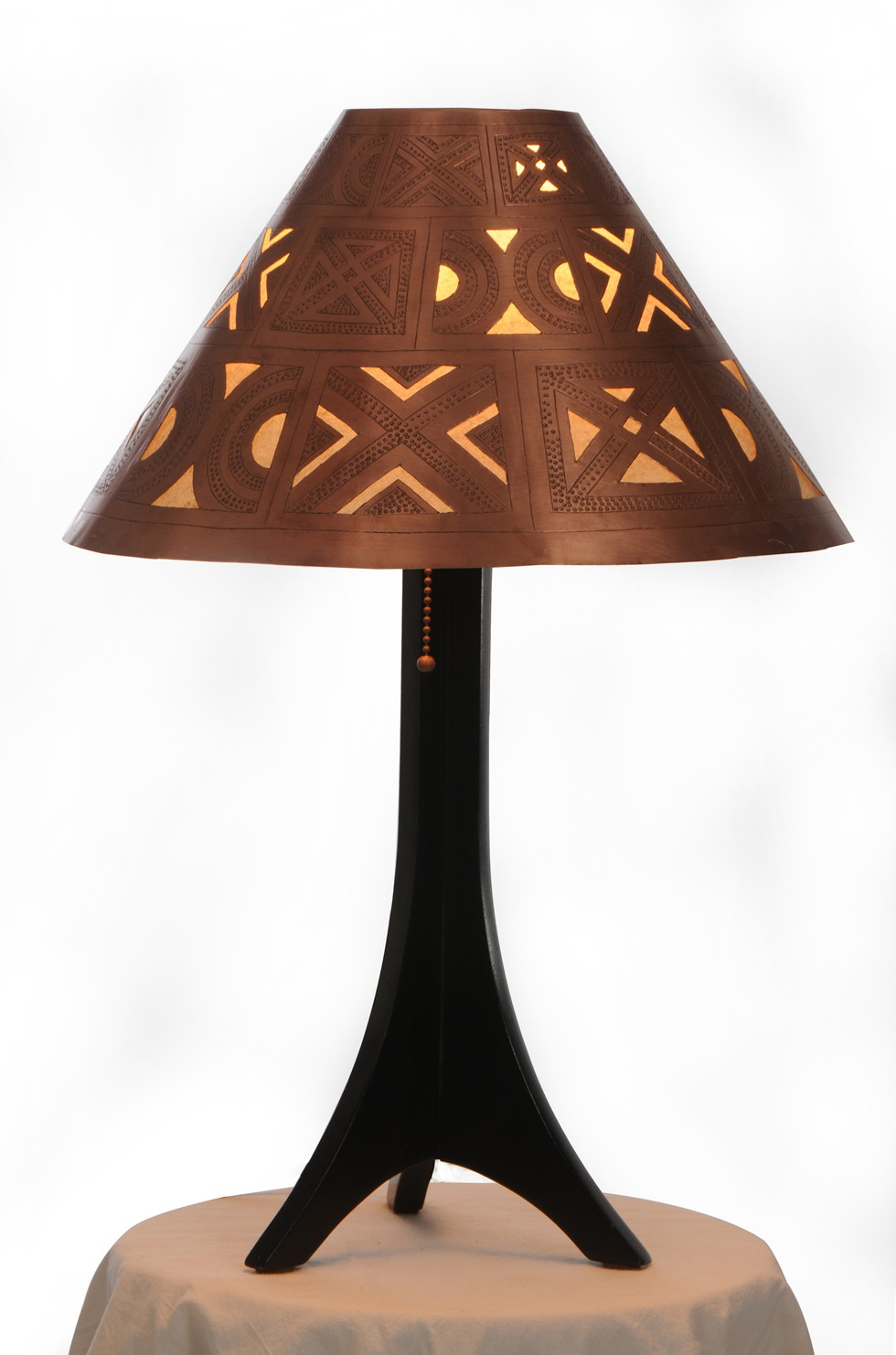 Medina table lamp - handcarved berber shade