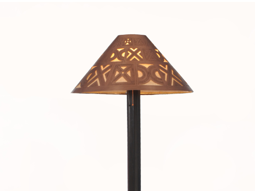 Medina floor lamp - berber handcarved copper