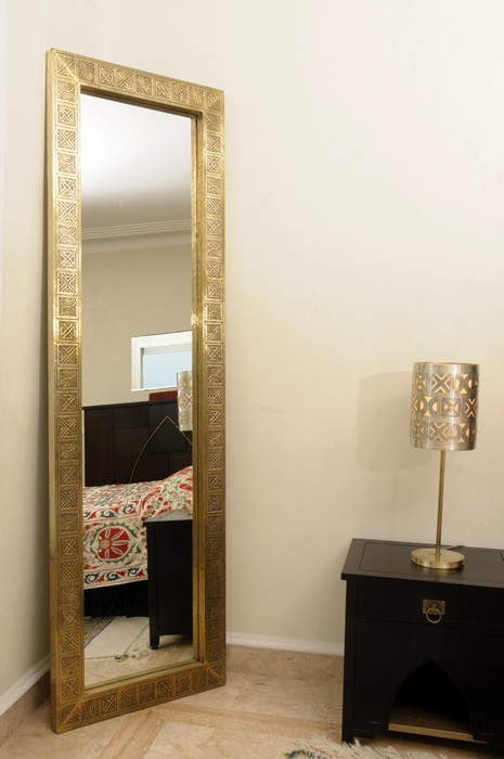 berber floor-length mirror - brass