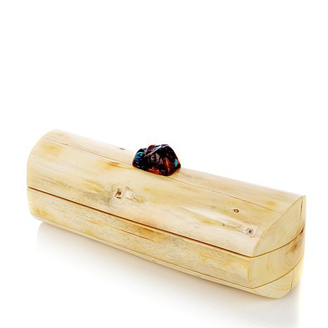 cypress, olive, & turquoise jewelry box