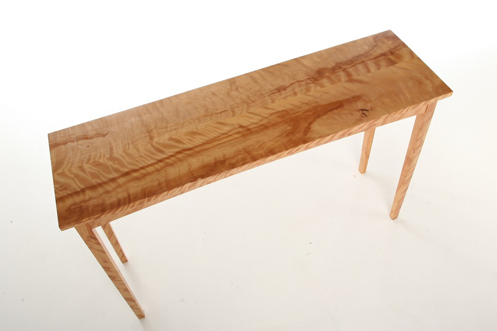 Flame birch sofa table